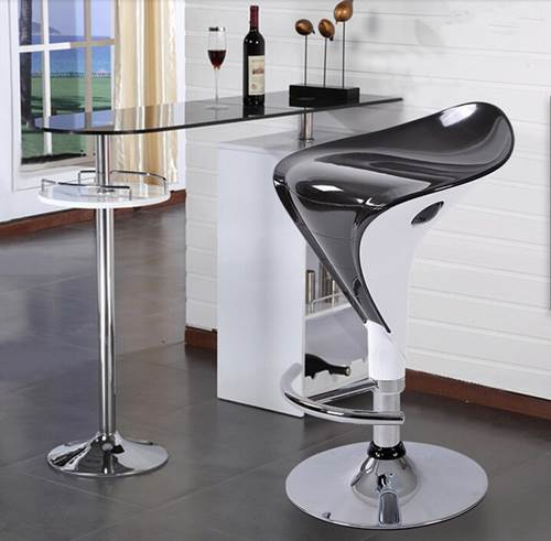 High Quality Modern Metal Furniture Industrial Restaurants Stool Black