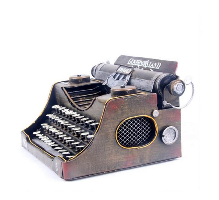 Handmade Metal Crafts Retro Typewriter