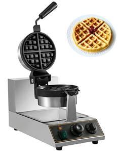 VBENLEM 110V Commercial Round Waffle Maker