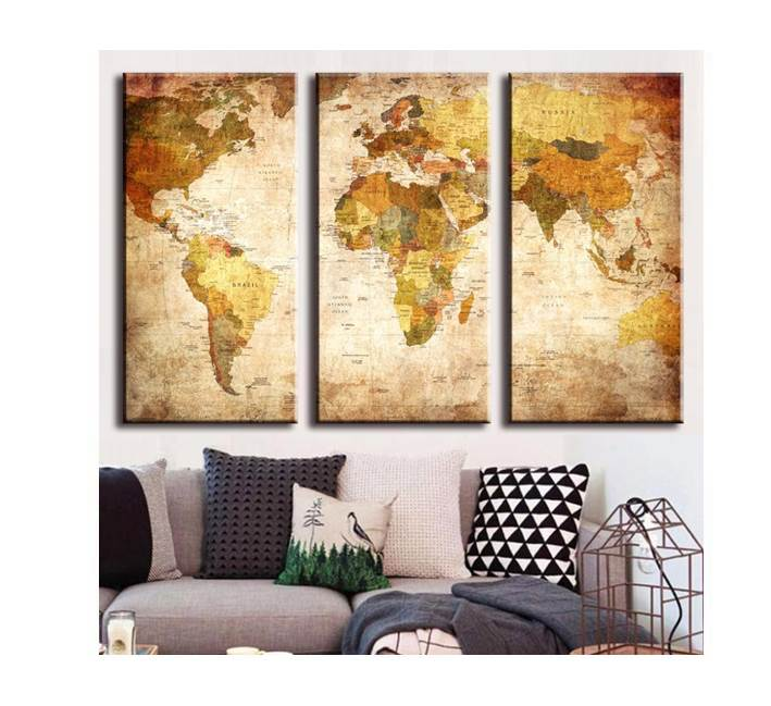 Vintage World Map Wall Print