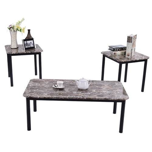 Coffee and End Table Set Living Room Furniture Decor