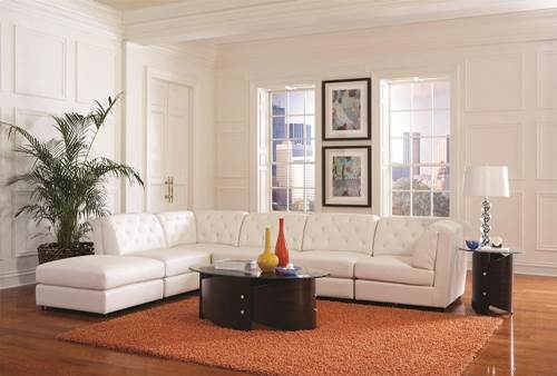 Leather Sofa 6 Piece Couch Living Room Furniture