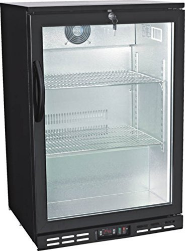 Single Door Glass Back Bar Beverage Cooler