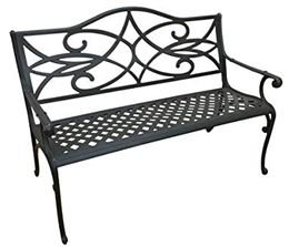 The Outdoor Patio Store Commercial-Grade Cast Bench