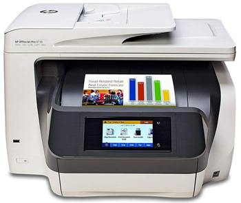 HP Officejet Pro 8730 D9L20A All-In-One Wireless Color Printer