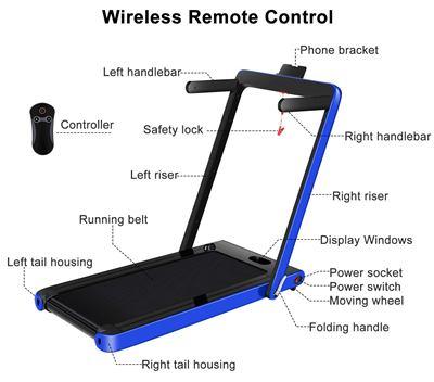 OppsDecor Under Desk Treadmill 2in1 Walking Running Machine
