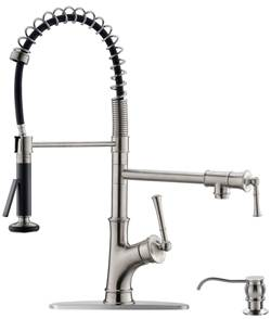 APPASO Commercial Kitchen Sink Faucet with Soap Dispenser