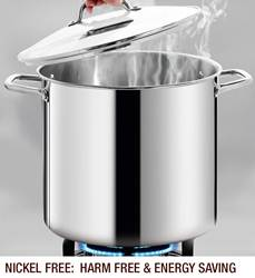 HOMICHEF Commercial Grade LARGE STOCK POT 20 Quart With Lid