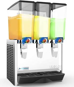 Nurxiovo Commercial Juice Dispenser - 3 Tanks 7 Gallon