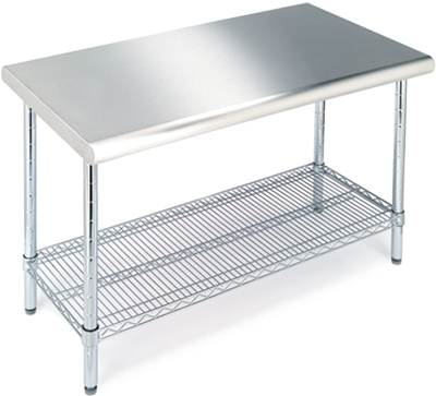 Seville Classics Stainless Work Table