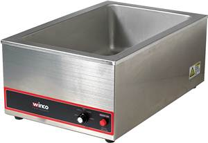 WINCO FW-500 Large Stainless Steel Food Warmer
