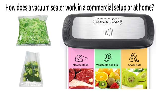 How does a vacuum sealer work