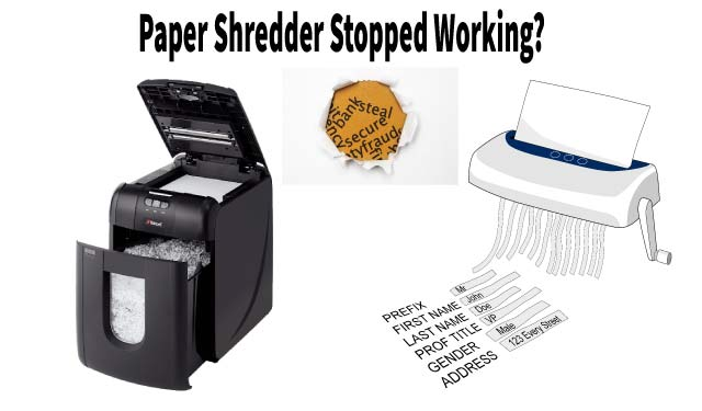 Why did My Paper Shredder Stop Working